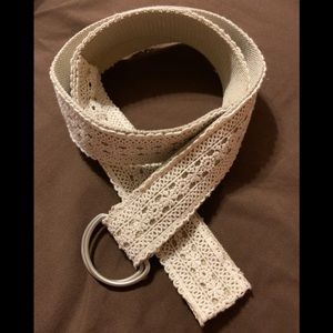 White lace belt
